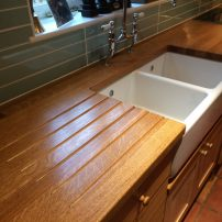 Oak block worktops - Longworth