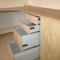 Oak desk, Cassington